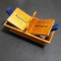 Panier bois Aiguilles/Epingles [가죽공예][프랑스자수]